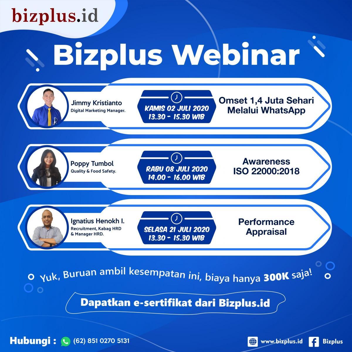 Bizplus Webinar Online Bulan Juli 2020 (IG) 1