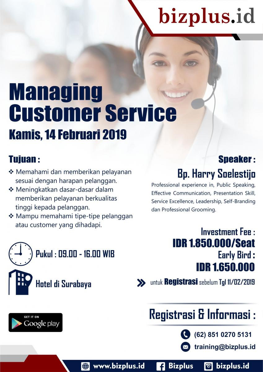 Managing Customer Services (Brosur)