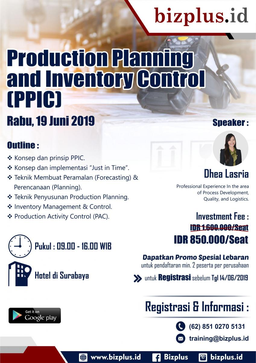 Production Planning and Inventory Control (Public Training)