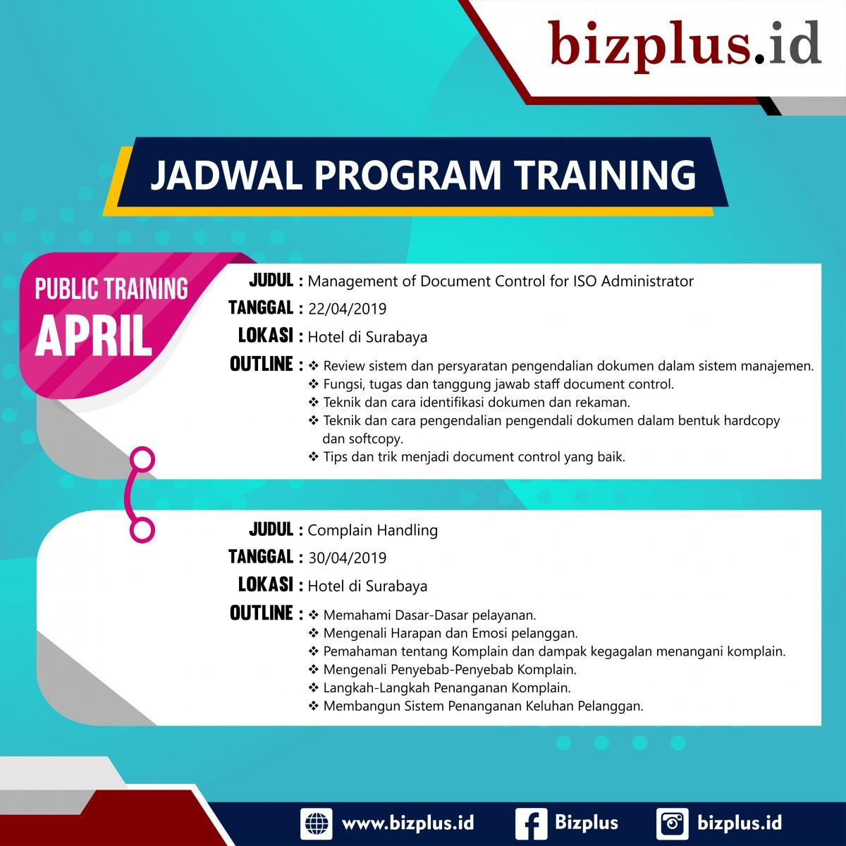 Program Training (Slide) April